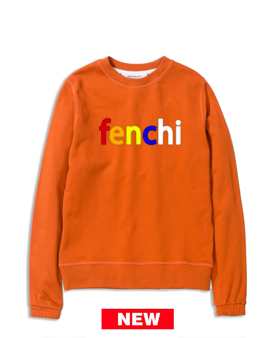Colors print orange sweatshirt-unisex