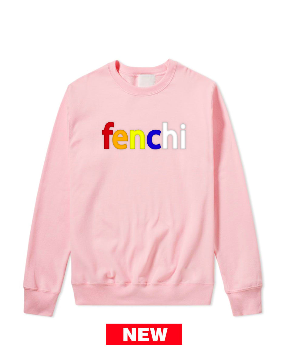Colors print light pink sweatshirt-unisex