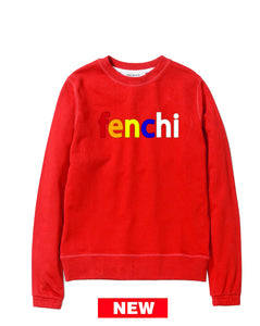 Colors print red sweatshirt-unisex