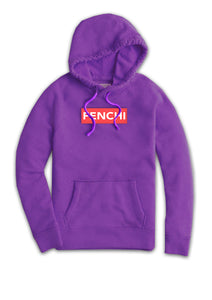 Superstar pink watermelon/white print purple hoodie - unisex