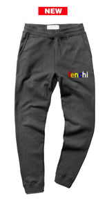 Colors print charcoal joggers - unisex (baggy fit)