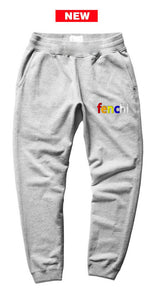 Colors print heather grey joggers - unisex (baggy fit)