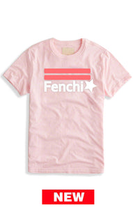 2.0 pink watermelon/white print light pink tee shirt - unisex