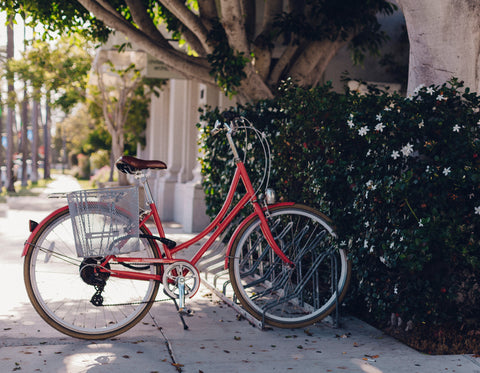 image of red bicycle - environmentally friendly