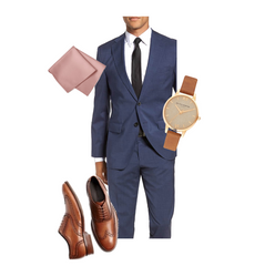 image of a male's date night outfit - front pocket wallet