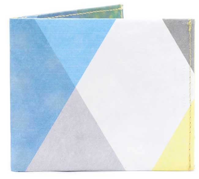 'MOIRE TRIANGLES' Flat Wallet