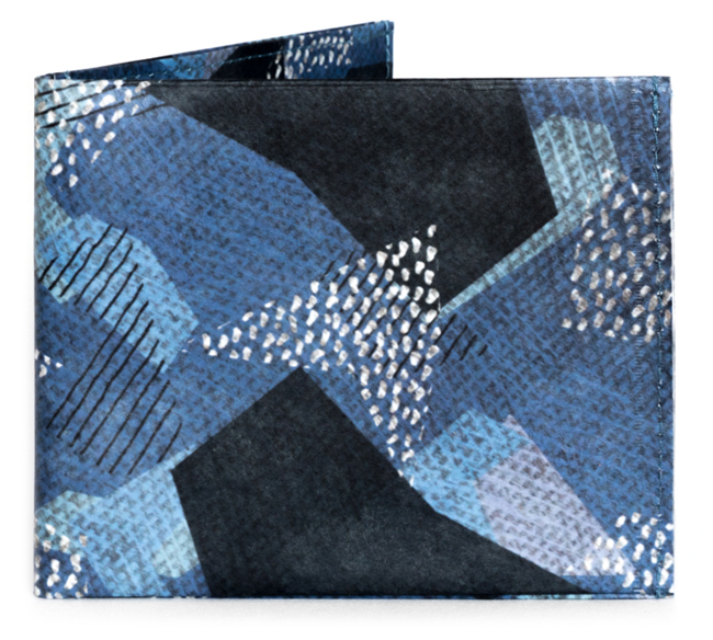 'Blue Camo' Flat Wallet | RFID Protection