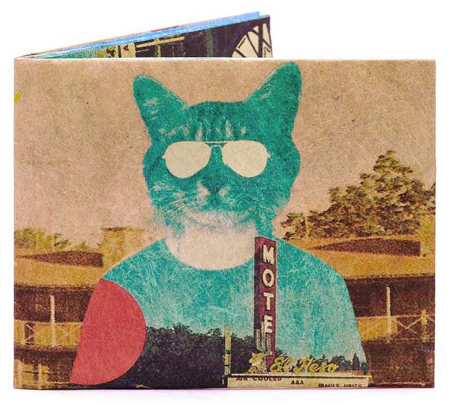 'Desert Cat' Slim Wallet
