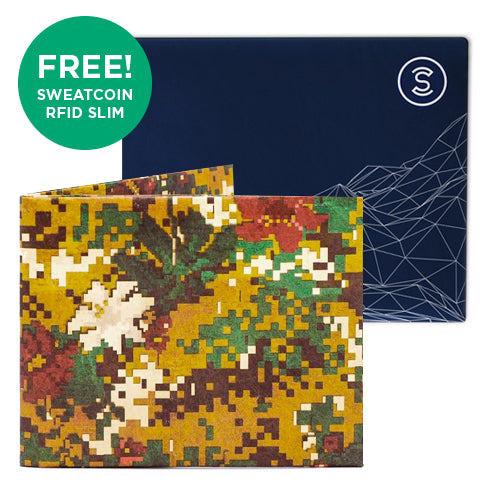 Peace Camo + Sweatcoin RFID Wallet