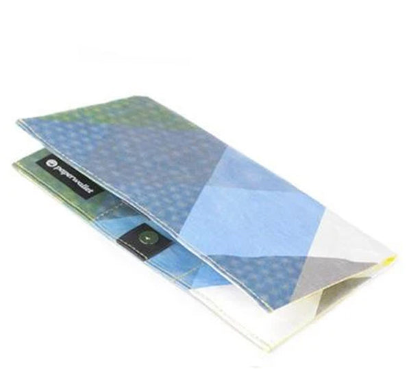 Triangle Moire Clutch Wallet | RFID Protection