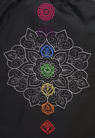 """Mandala mit Chakren"" gestickt Lady Sweat Jacket"