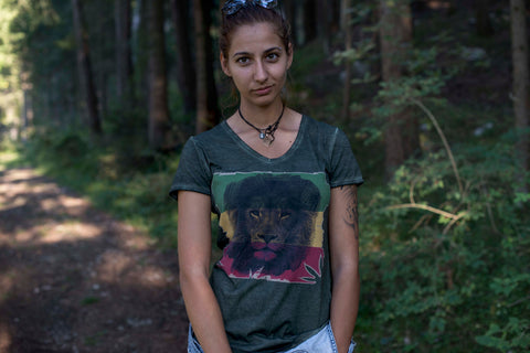 "Damen Shirt ""Reggae Lion"""