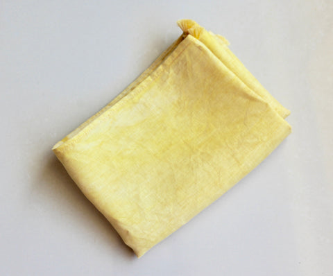 Pure Linen Sash - Yellow (Vegetable Dyed)