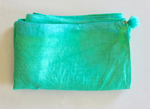 Pure Linen Sash - Green (Vegetable Dyed)