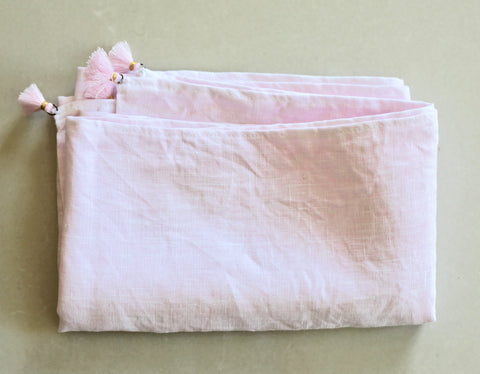 Pure Linen Sash - Pale Pink (Vegetable Dyed)