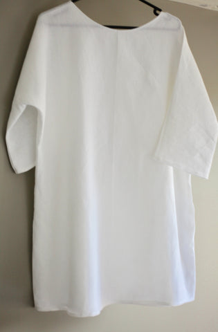 Pure Linen Women's Long Tops - Size 14