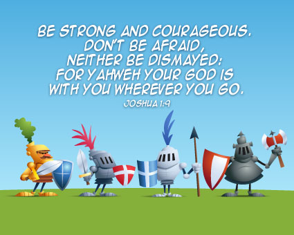 Joshua 1:9 Courageous Knights - Canvas Prints