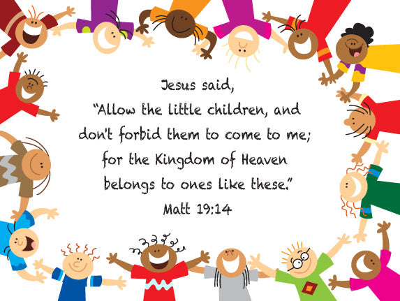 Matthew 19:14 Jesus and the Children - Canvas Print