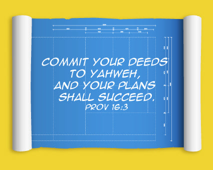 Proverbs 16:3 Deeds Canvas Print