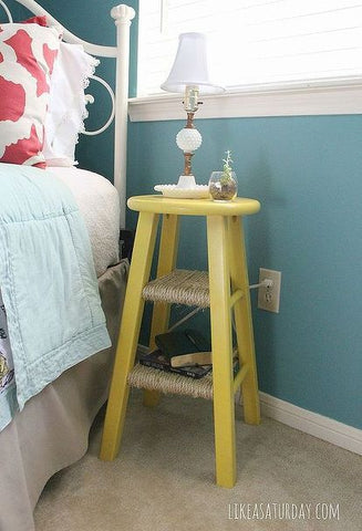 Spray Painted Yellow Side Table