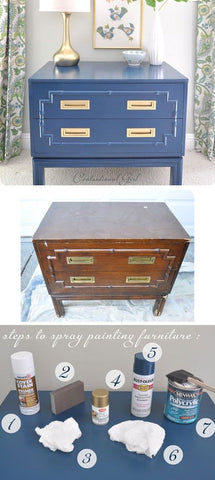 Art Deco Spray Painted Furniture