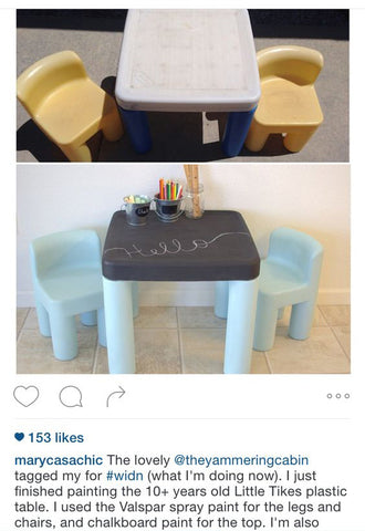 Spray Painted Kids Play Furniture