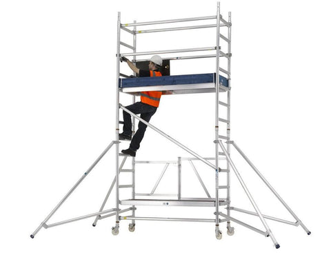 Zarges Reachmaster Quick Folding Mobile Scaffold Tower - PaintSprayTools - 1