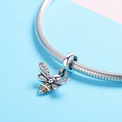 Save The Bees Sterling Silver Bee Charm