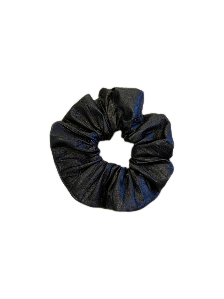 Faux-Leather Tima Scrunchie