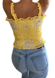 Yellow Geo Tank Top