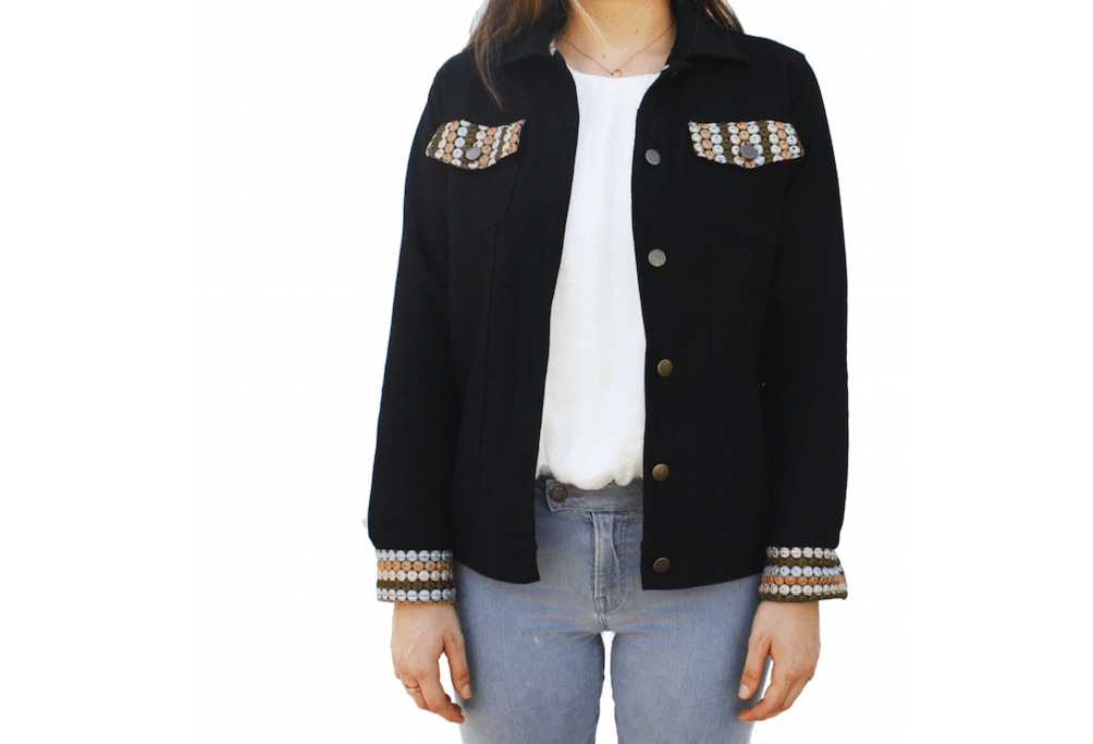 Black 'Raffi' Denim Jacket