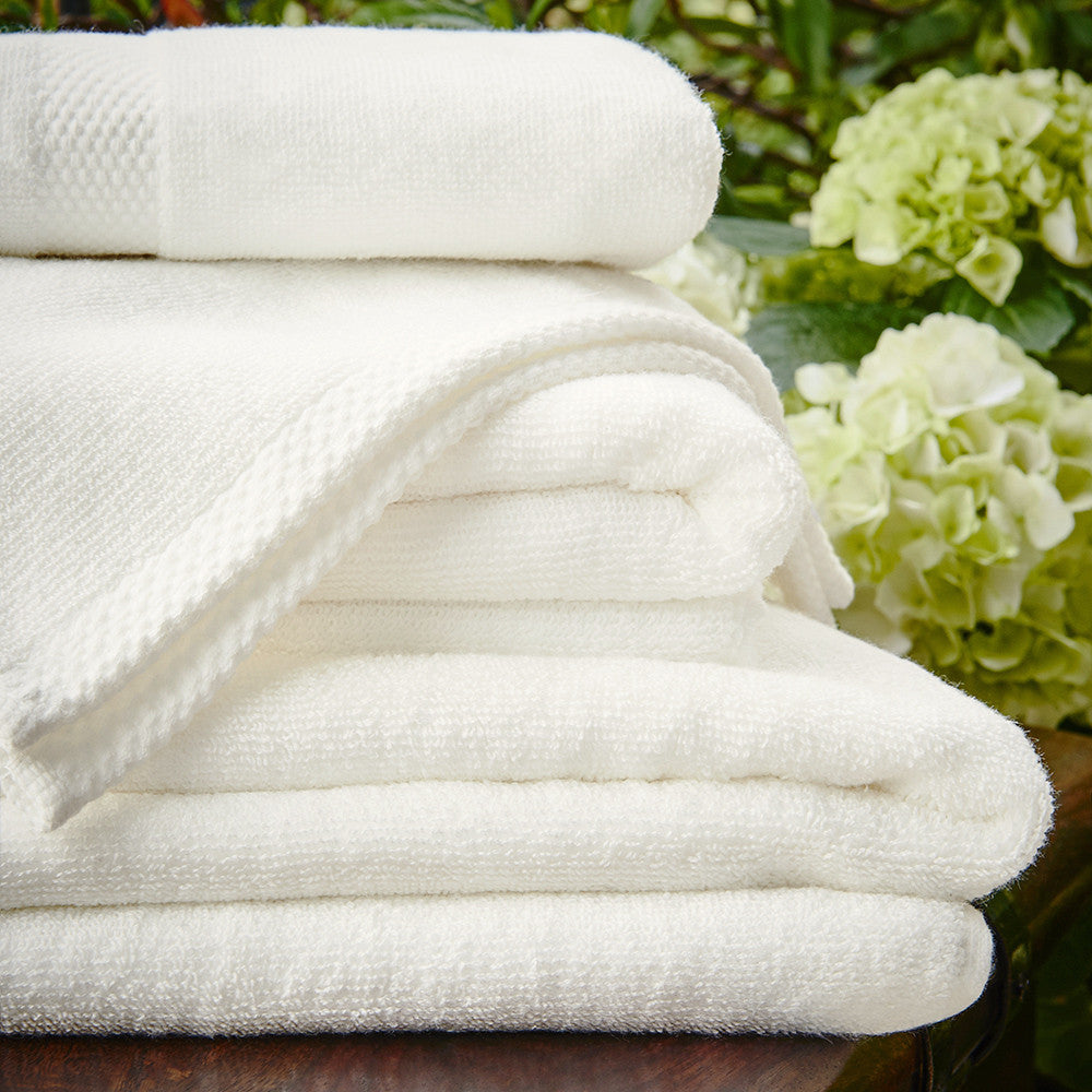 600gsm Bamboo Towels - Natural White