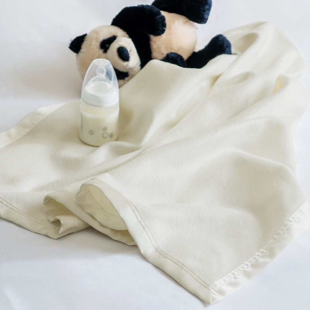 Bamboo Baby Blanket - Soft Cream