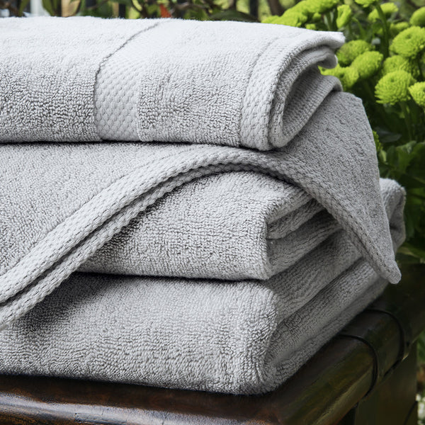600gsm Bamboo Towels - Pearl Grey