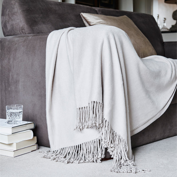 Bamboo Throw - Soft Taupe
