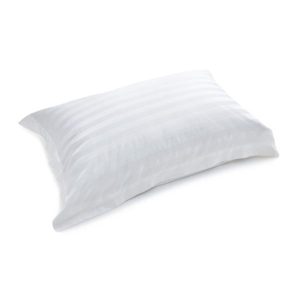 White Sateen Stripe Oxford Bamboo Pillowcases (Set of 2)