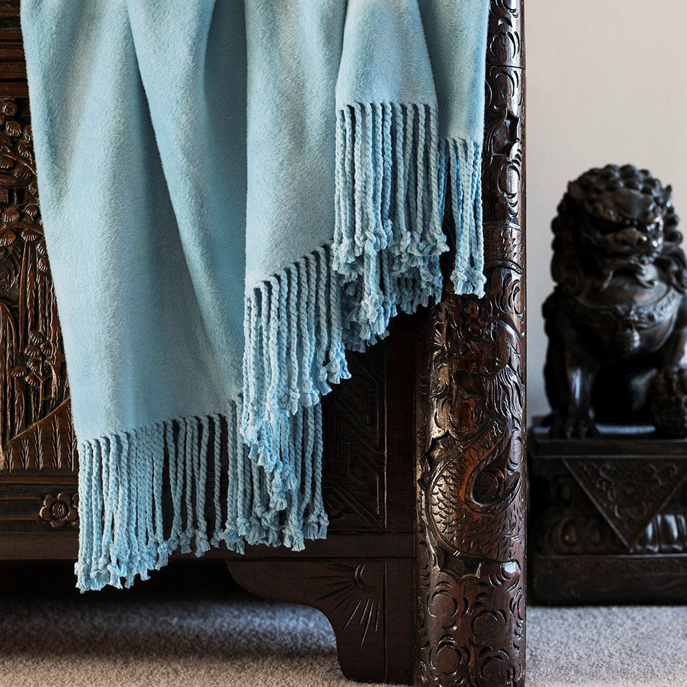 Bamboo Throw - China Blue
