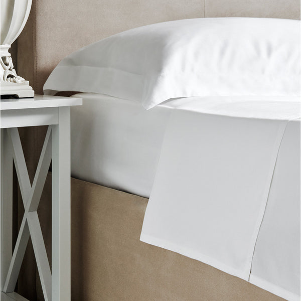Plain White Flat Bamboo Sheet - 300 Thread Count