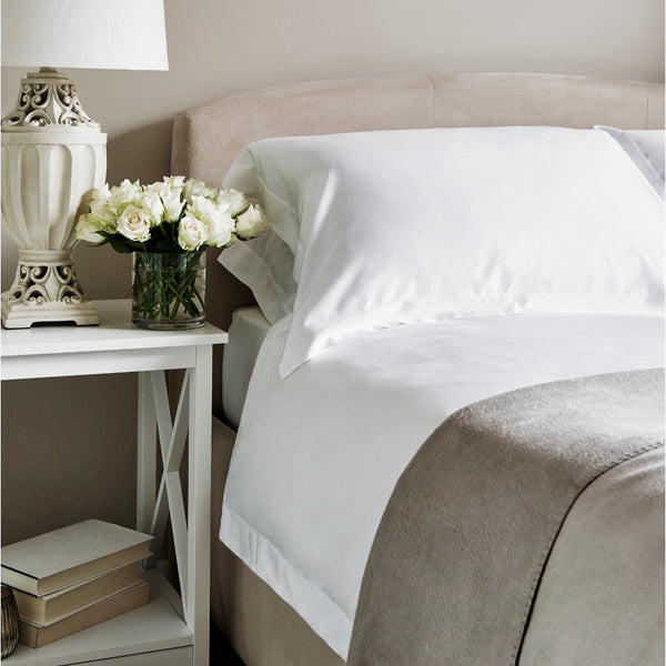 Plain White Bamboo Duvet Cover - 300 Thread Count