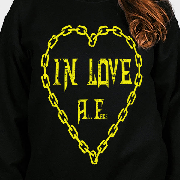 In Love All Fake Sweater