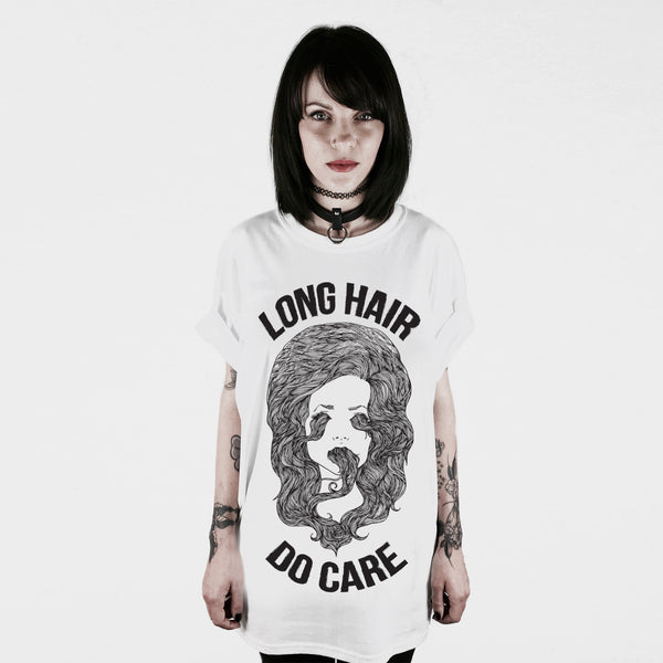 LONG HAIR DO CARE T-SHIRT