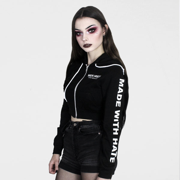 Made With Hate Cropped Jacket