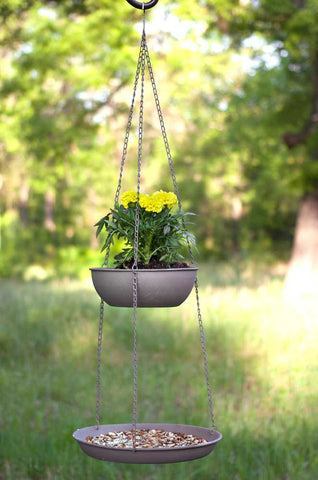 Two Tier Hanging Basket and Feeder - McDowell Design Co.