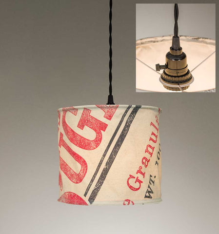 Stagecoach Sugar Canvas Pendant Lamp - McDowell Design Co.