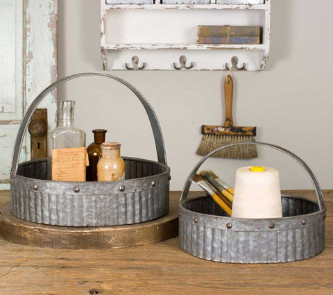 Set of Two Corrugated Baskets - McDowell Design Co.