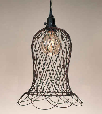 Wire Bell Pendant Lamp - McDowell Design Co.