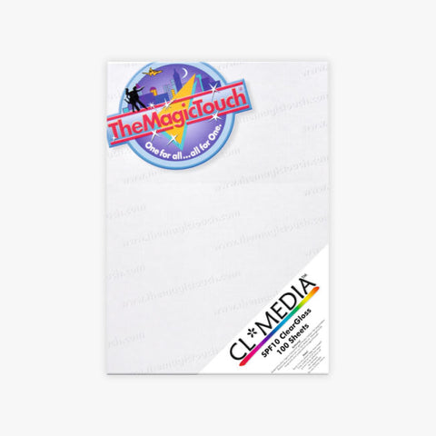 "MAGIC TOUGH - 8.25"" x 11.7"" CLEAR MEDIA – STICKERS AND LABELS [A4-CLCLEAR100, 7-A-1-1]"