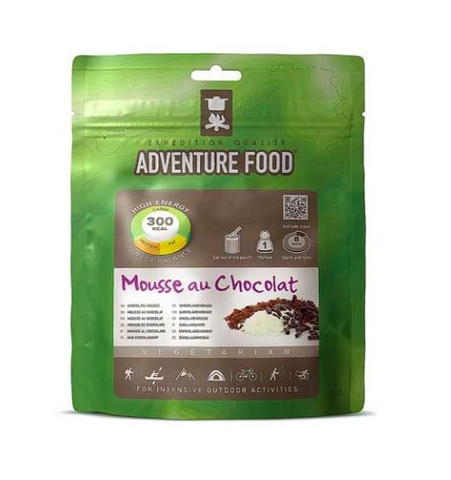 chocolate mousse, adventure food, freeze dried camping meals, backpacking desserts