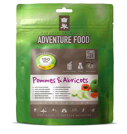 pommes and apricots, adventure food, backpacking desserts, freeze dried camping meals