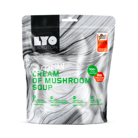 cream of mushroom soup, lyofood, freeze dried meals, backpacking lunch ideas
